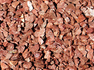 Decorative rock see our list of available colors and sizes for Red decorative rocks for landscaping