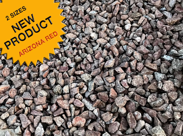 Arizona Red is a new product from Arizona Trucking & Materials. It comes pre-screened in three different sizes and is naturally red in color with a unique blend of taupe, coffee and slate tones. It's perfect for accenting areas around other rock gardens or use in large outdoor concrete planters. At Arizona Trucking & Materials, we offer a large selection of Tucson landscaping rocks, flagstone and other organic materials.