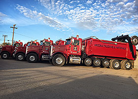 Super Dump Rental Fleet
