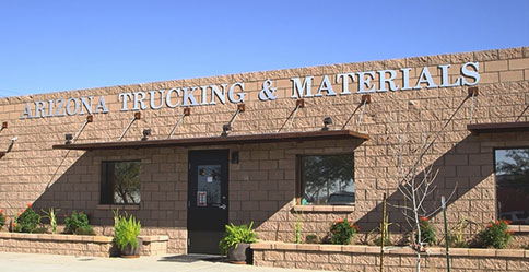 Stop by Arizona Trucking and Materials for all your landscaping materials needs and flat bed or dump truck rentals!