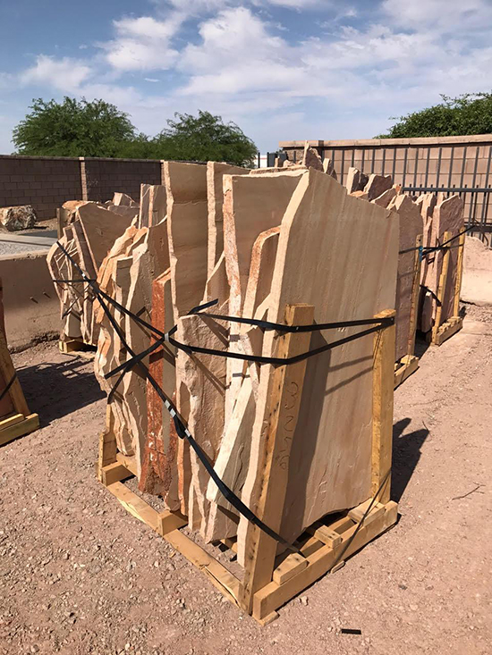 Select flagstone Tucson AZ color buff, Arizona flagstone dealer.