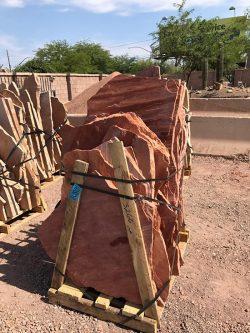 Select flagstone Tucson AZ, Arizona flagstone supply, in MC Rosa color.